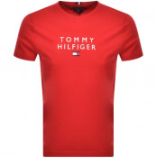 Product Image for Tommy Hilfiger Icon Flag Logo T Shirt Red